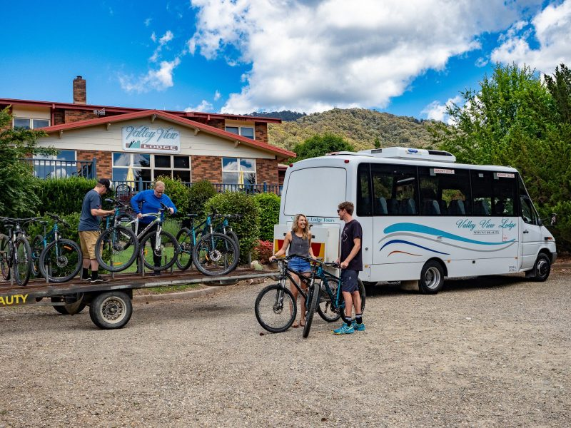 The bus (with driver) available for groups.
