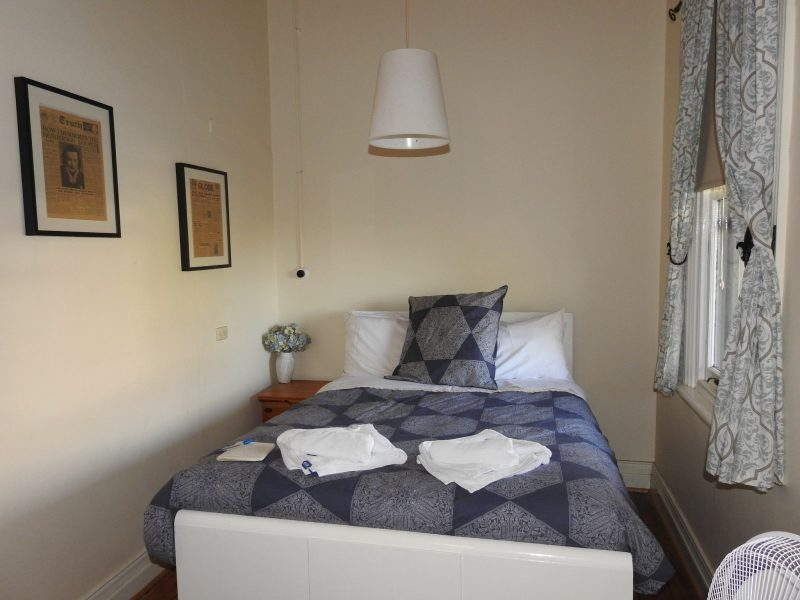 Sample of a double room at the Victoria Hotel