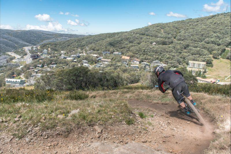 Mountain Biker at Falls Creek