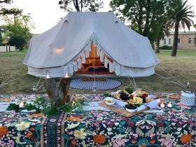 Winery Glamping at Seppelt Wines - Group tent