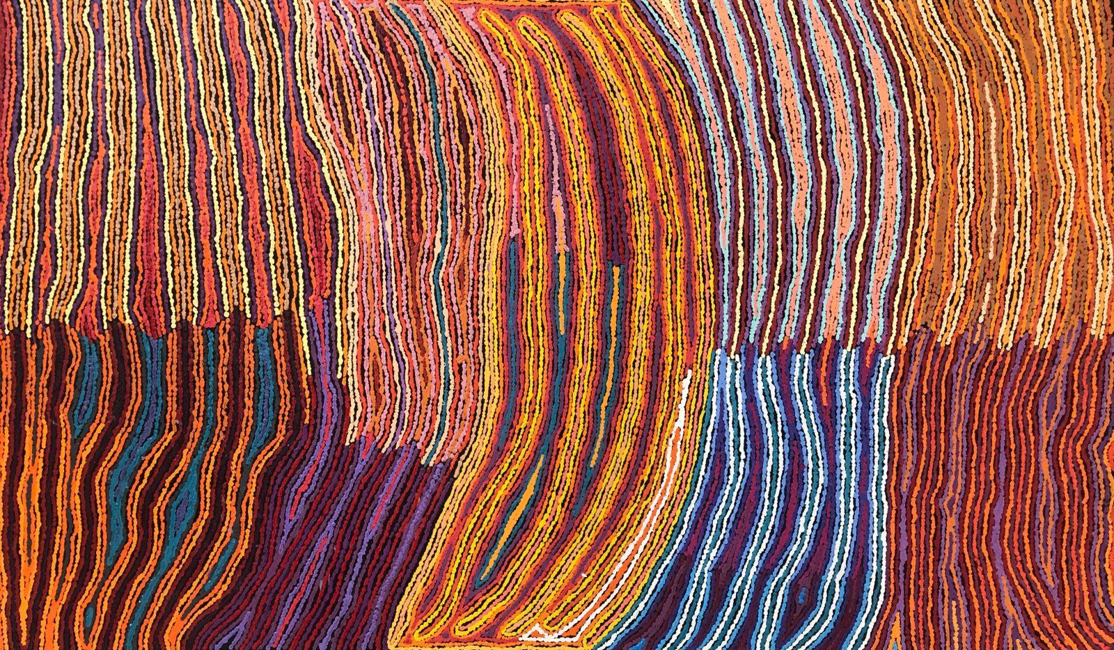 Christine Napanangka Michaels Lappi Lappi Dreaming, 2019, acrylic on canvas, 183 x 107cm