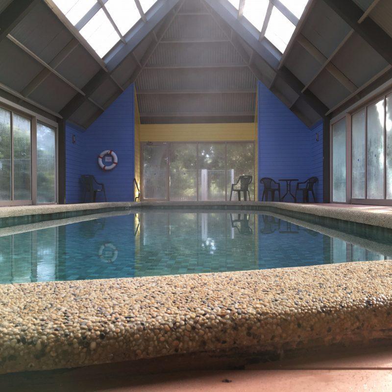 Indoor solar heated pool