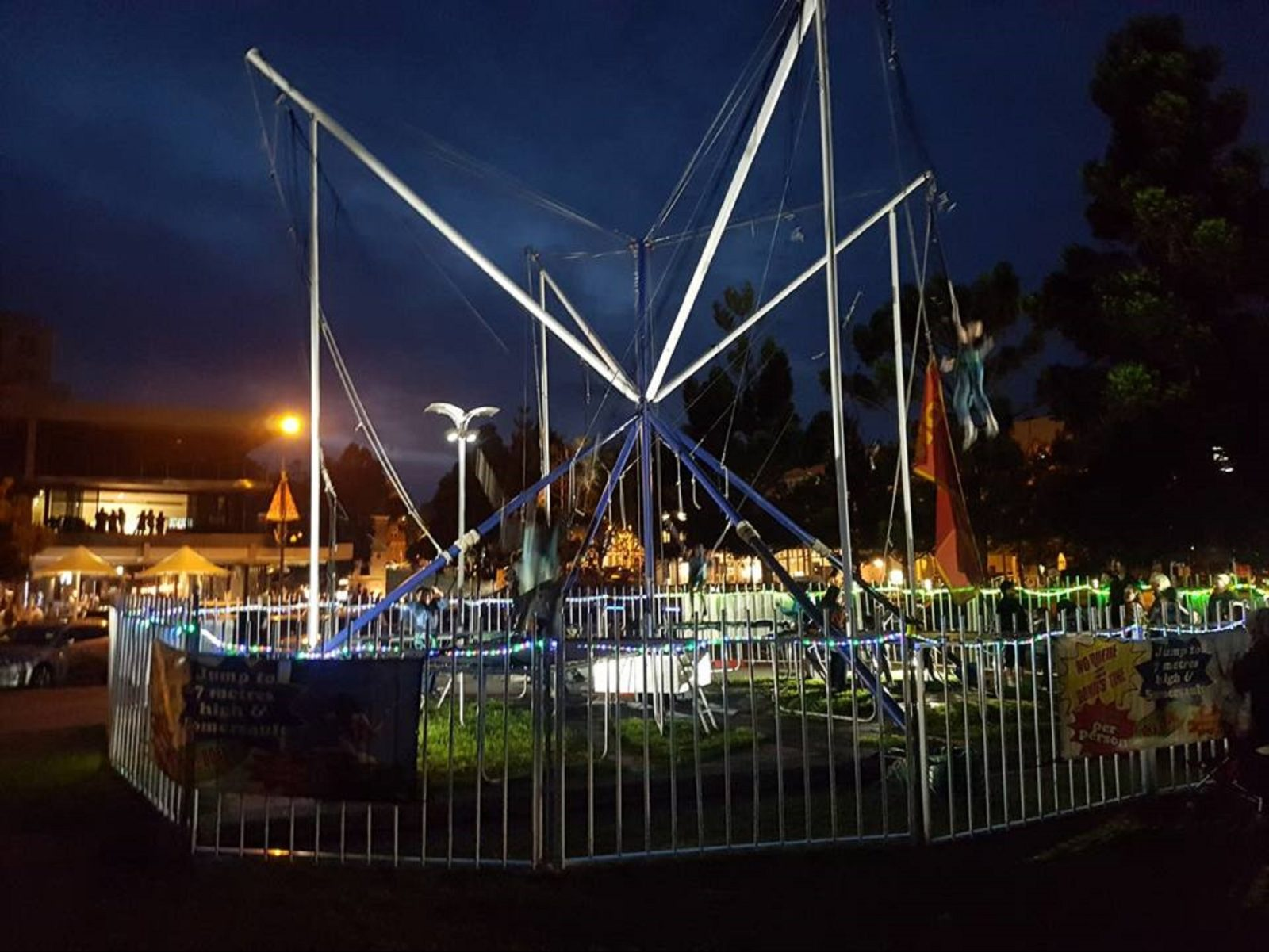 Waterfront Bungy at night