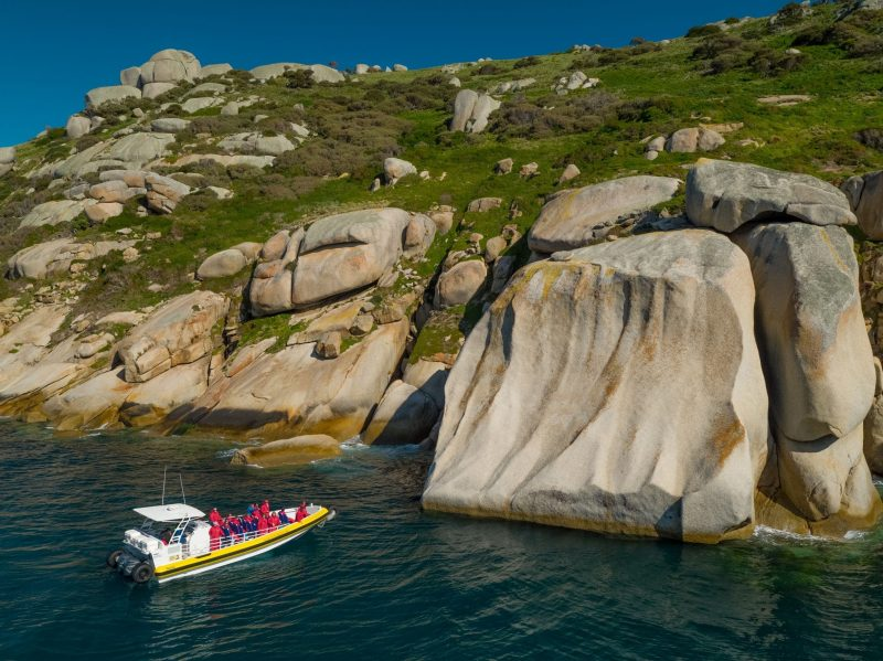 Wilsons Promontory Cruises exploring granite coastline