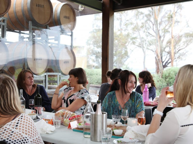 Enjoy lunch with a view at Shaws Road Winery