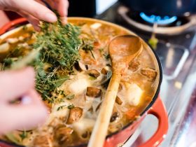 Cassoulet on the stovetop