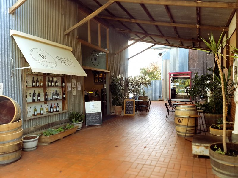 The courtyard outside our Cellar Door