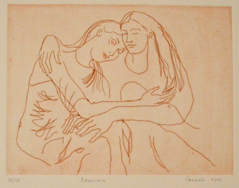 Judy Cassab, Reunion, detail, 8/70, 2001, print on paper, 24.5 x 32.5cm