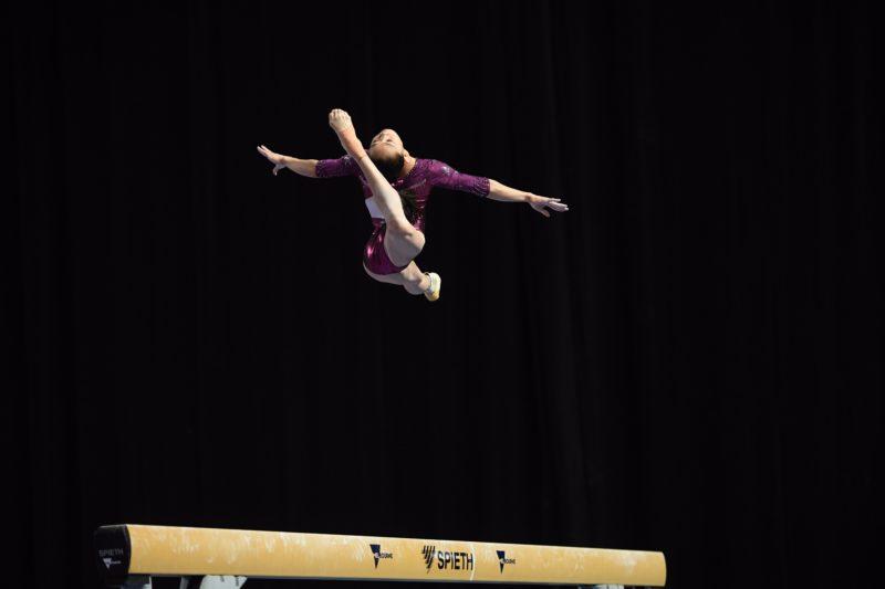 Chinese gymnast on Beam