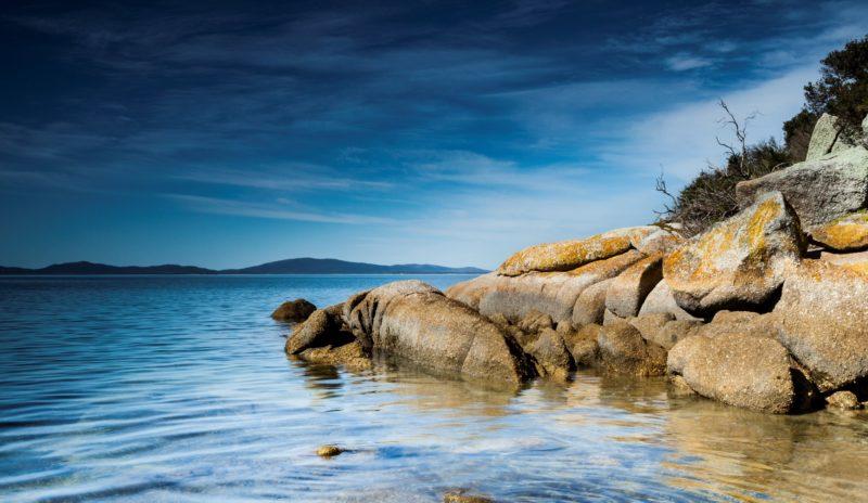 Water rocks Yanakie Caravan Park