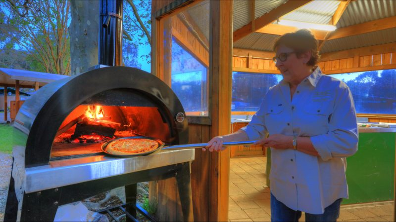 Yea Riverside Caravan Park Pizza Oven