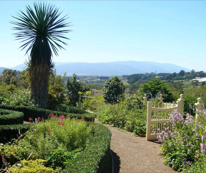 Garden and view of the Yarra Valley