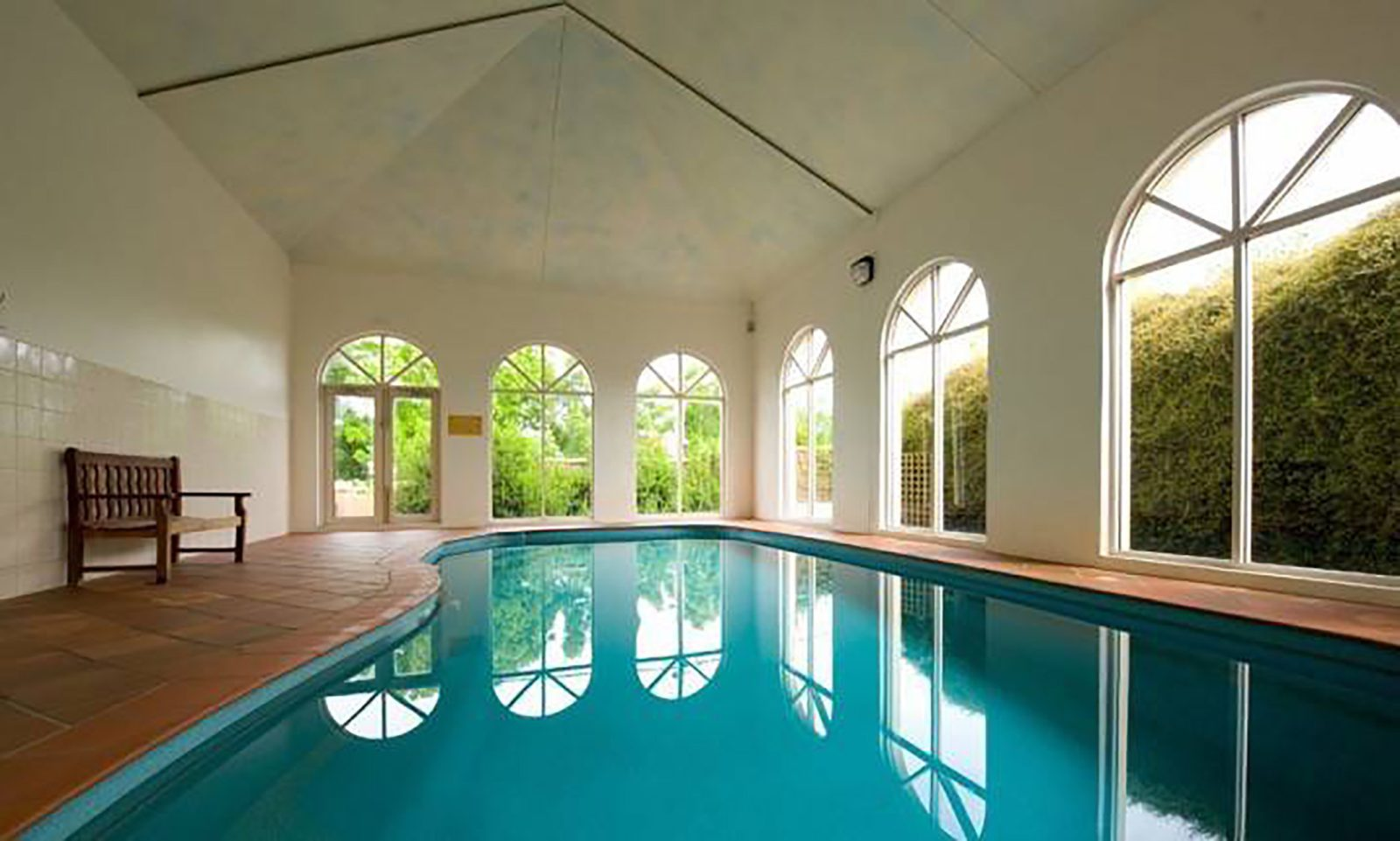 Courthouse Zen Suite indoor heated pool and spa view