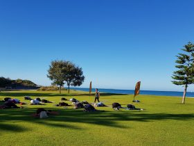 Beach Yoga, South Fremantle, Western Australia