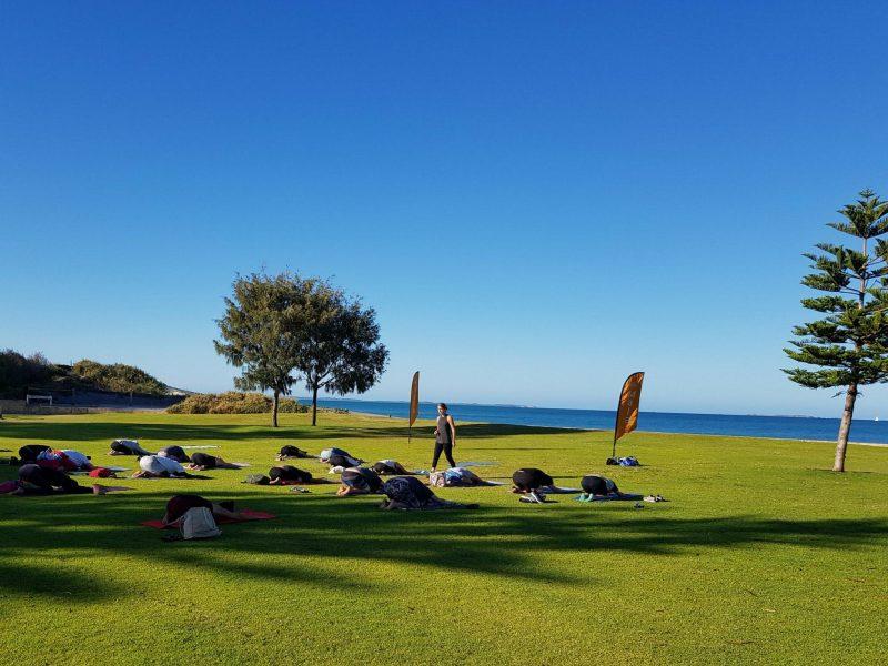 Beach Yoga, South Fremantle, Western Australia