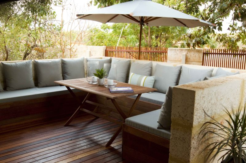 All accommodation has private outdoor entertaining areas with built in seating and private barbecue