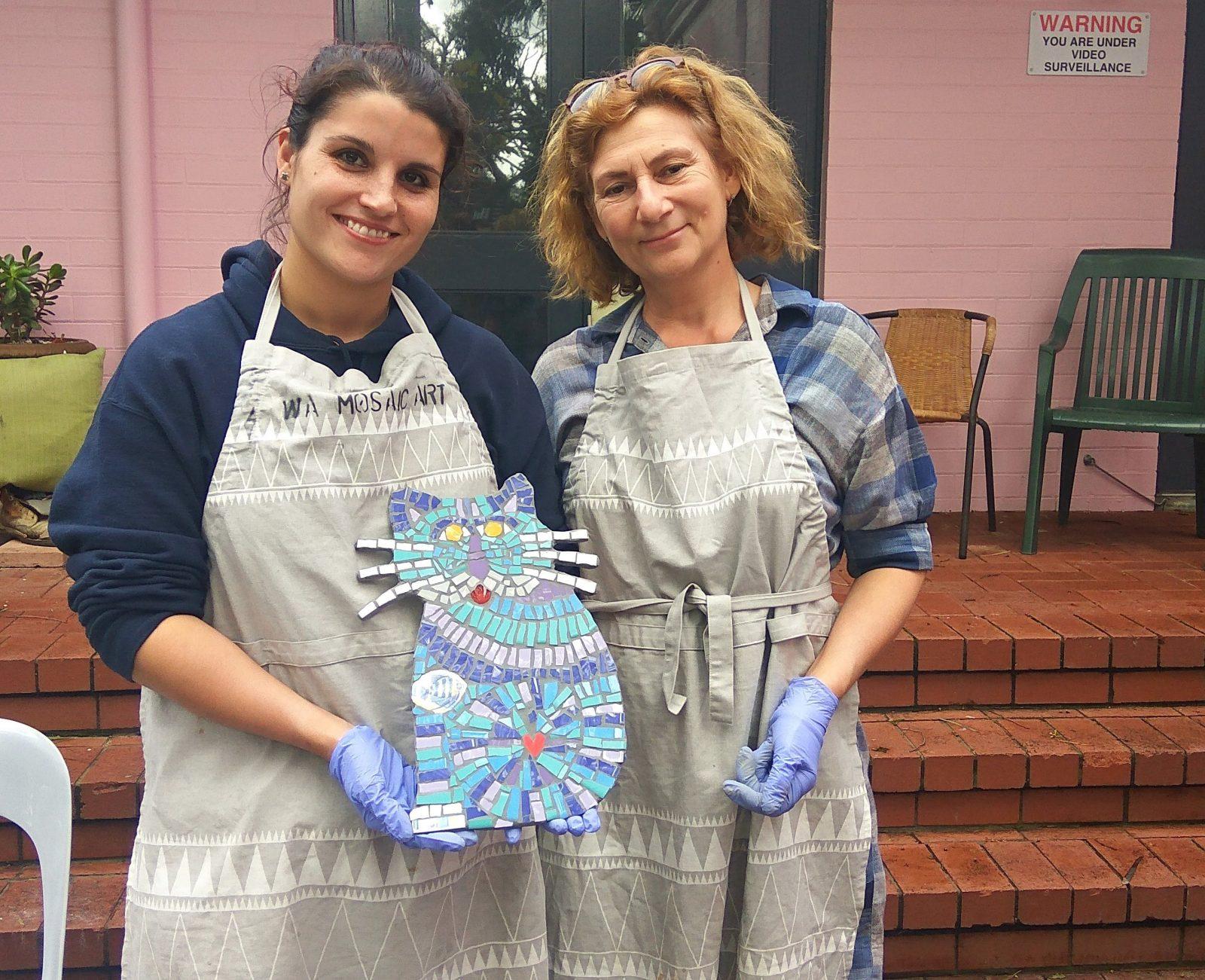 Christmas Gift Making Mosaic Class, East Victoria Park, Western Australia