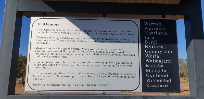 Derby Pioneer Cemetery, Derby, Western Australia