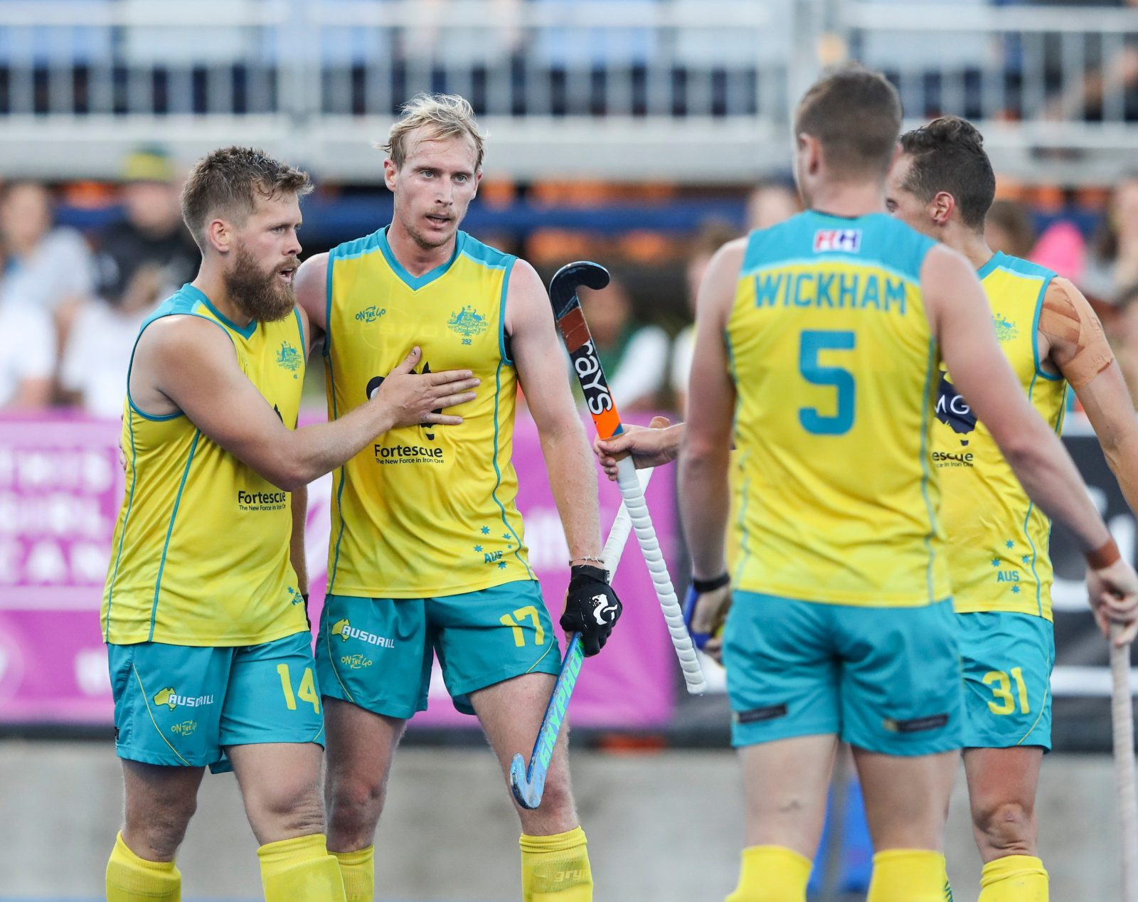 FIH Pro League: Kookaburras versus Great Britain, Bentley, Western Australia