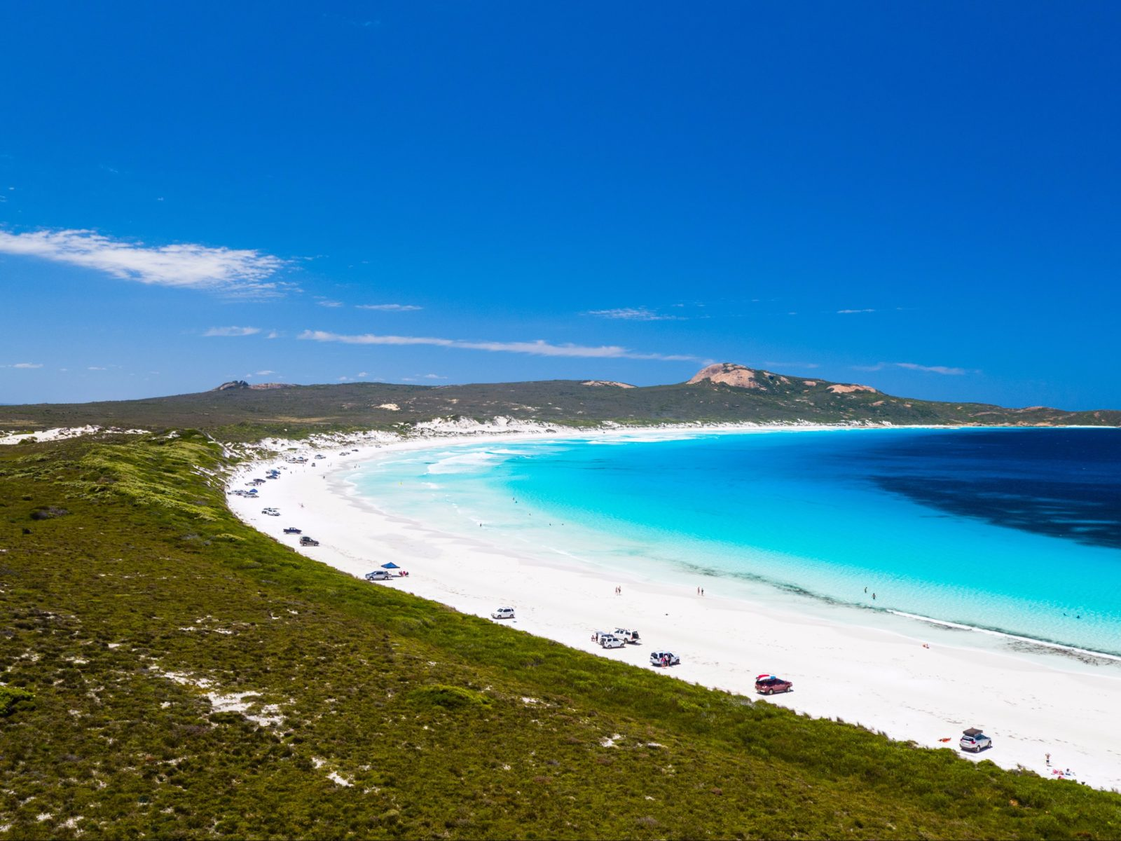 Aerial view of Lucky Bay, near Esperance