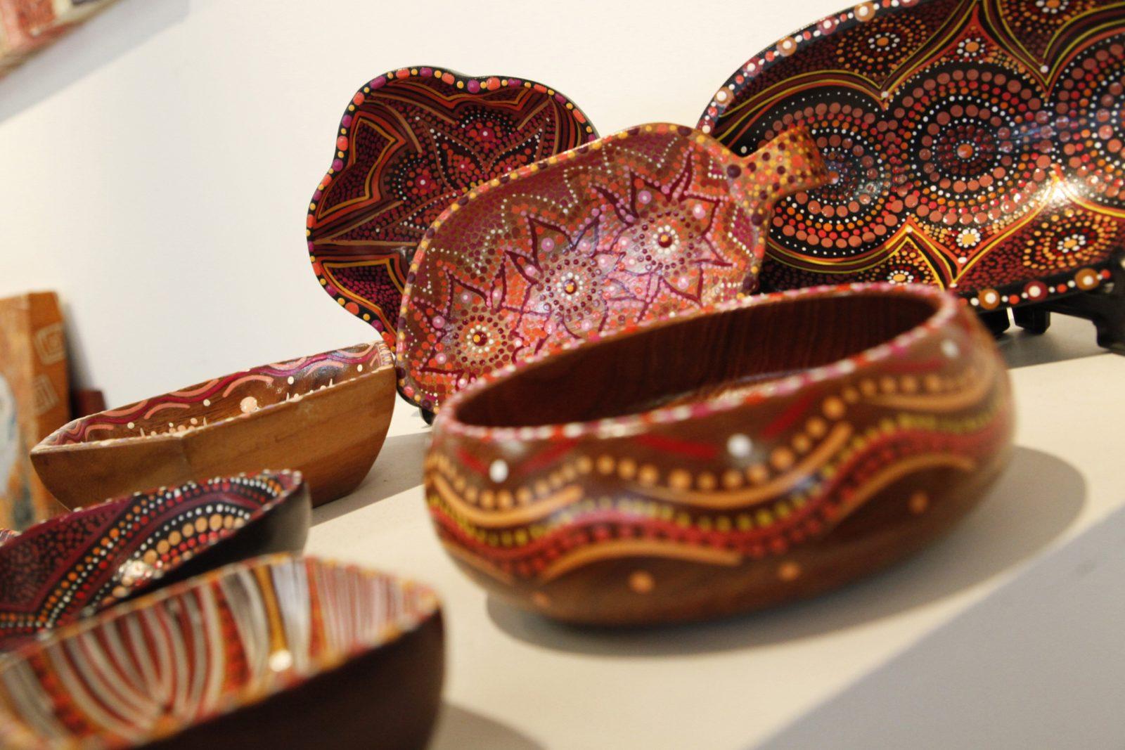 Handpainted wood ware