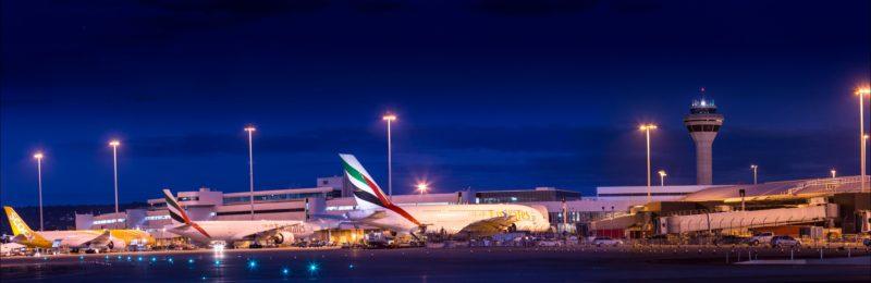 Perth Airport T1 International night view, Perth Airport