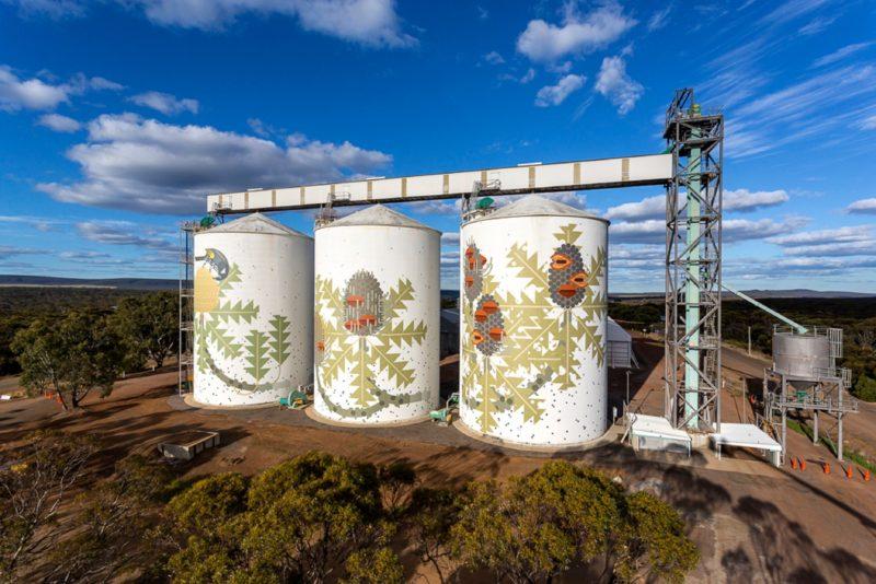 Ravensthorpe's Painted Grain Silos, Western Australia