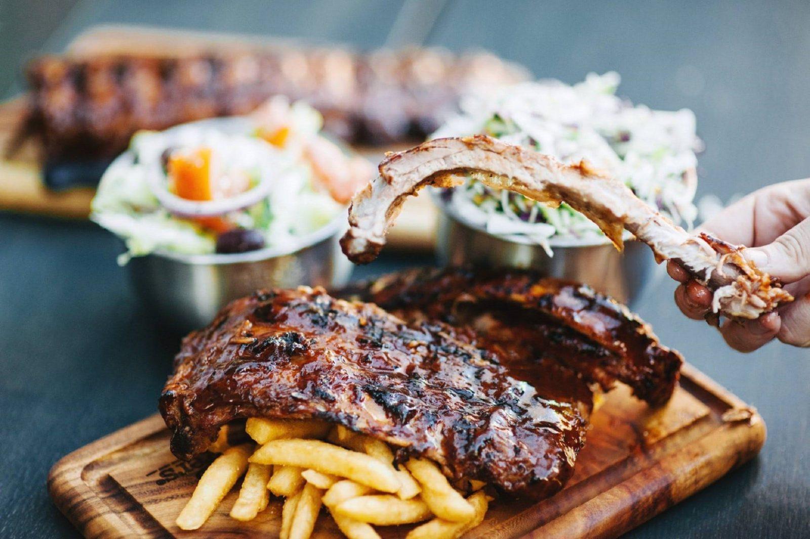 Ribs and Burgers on William Street, Perth, Western Australia