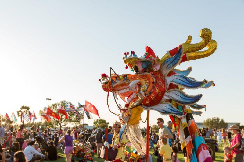 Shinju Matsuri Drug Aware Opening Ceremony Mardi Gras, Broome, Western Australia