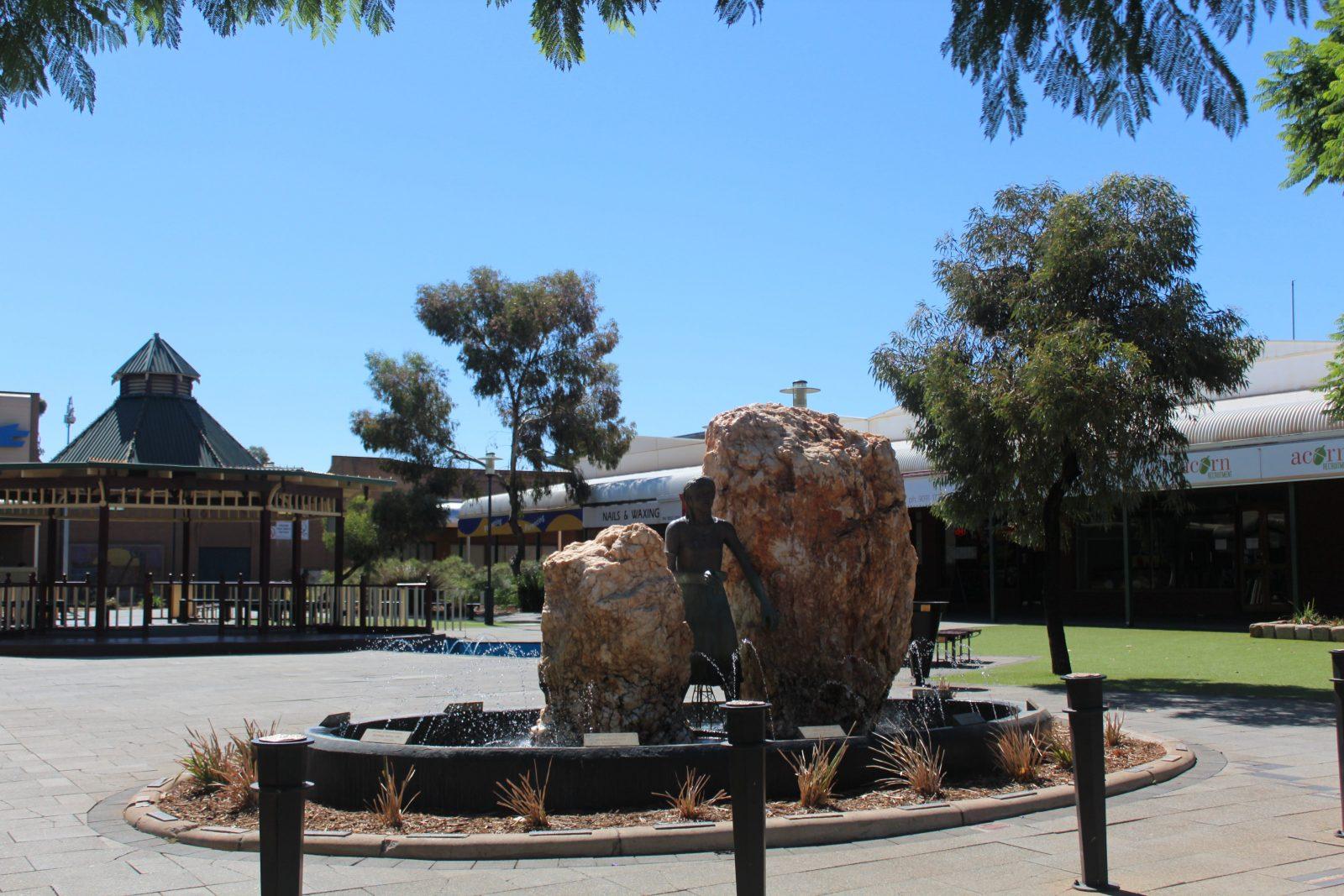St Barbara Monument and Statue, Kalgoorlie, Western Australia