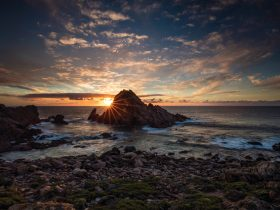 Sugarloaf Rock at sunset