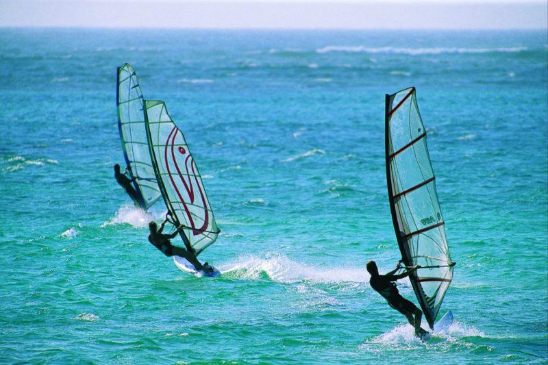 Windsurfing and Surfing, Geraldton, Western Australia