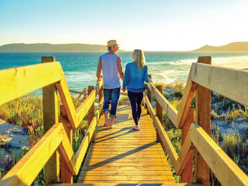 Couple at beach on Great Ocean Drive in Esperance Western Australia